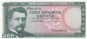 Iceland, 500 Kronur, 1961, UNC, p45a