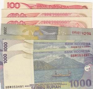 Indonesia, 7 Pieces UNC Banknotes