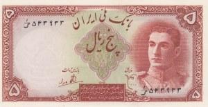 Iran, 5 Rials, 1944, UNC, p39