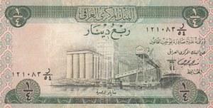 Iraq, 1/4 Dinar, 1973, XF, p61