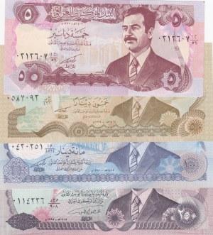 Iraq, 50 Dinar, 100 Dinar and 250 Dinar, 1992/1995, UNC, p80/p83/p84/p85, (Total 4 banknotes)