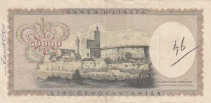 Italia, 50000 Lire, 1967, VF, p102a