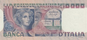Italy, 50.000 Lire, 1977, UNC (-), p107a