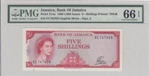 Jamaica, 5 Shillings, 1964, UNC, p51Ac