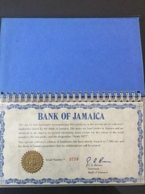 Jamaica, 1 Dollar, 2 Dollars, 5 Dollars and 10 Dollars, 1977, UNC, FOLDER