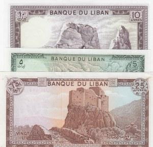 Lebanon, 3 Pieces UNC Banknotes