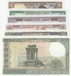Lebanon, 6 Pieces UNC Banknotes
