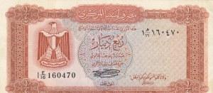 Libya, 1/4 Dinar, 1972, XF, p33b