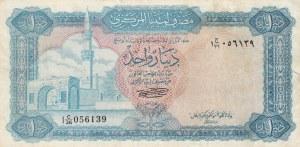 Libya, 1 Dinar, 1972, XF (-), p35b
