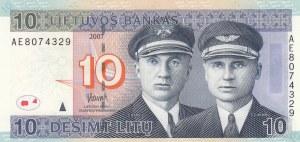 Lithuania, 10 Litu, 2007, UNC, p68