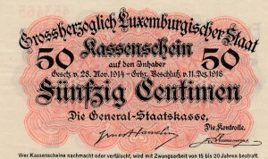 Luxembourg, 50 Centimes, 1918, UNC (-), p26