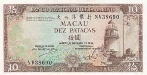 Macau, 10 Patacas, 1984, UNC, p59c