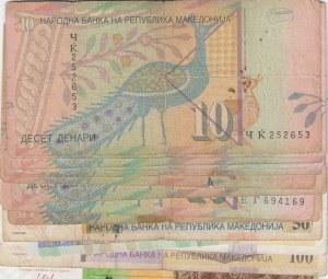 Macedonia, 10 Denari (10), 50 Denari (2), 100 Denari and 200 Denari, (Total 14 banknotes)