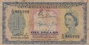 Malaya, 1 Dollar, 1953, POOR, p1a
