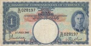 Malaya, 1 Dollar, 1941, VF, p11