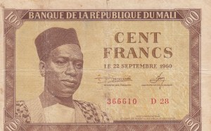 Mali, 100 Francs, 1960, FINE, p2
