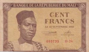 Mali, 100 Francs, 1960, VF, p2