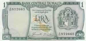 Malta, 1 Lira, 1967, UNC, p31a