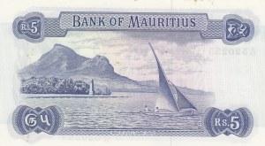Mauritius, 5 Rupees, 1967, AUNC, p30b