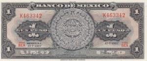 Mexico, 1 Peso, 1967, UNC, p59j