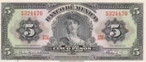 Mexico, 5 Pesos, 1963, UNC, p60h