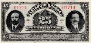 Mexico, 25 Centavos, 1915, UNC, S1069