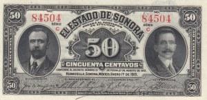 Mexico, 50 Centavos, 1915, UNC, P-S1070