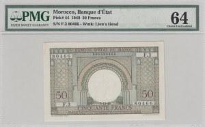 Morocco, 50 Francs, 1949, UNC, p44