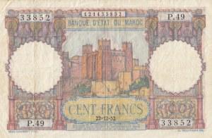Morocco, 100 Francs, 1952, VF, p45