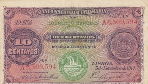 Mozambique, 10 Centavos, 1914, XF, p59