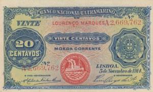 Mozambique, 20 Centavos, 1914, AUNC, p60
