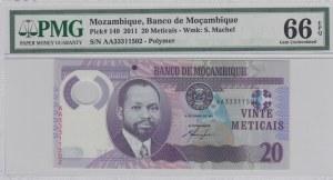 Mozambique, 20 Meticais, 2011, UNC, p149, (PMG 66)