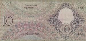 Netherlands, 10 Gulden, 1943, XF (-),p59