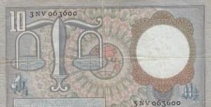Netherlands, 10 Gulden, 1953, VF,p85