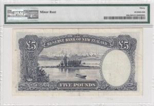 New Zealand, 5 Pounds, 1956-1960, VF, p160c, (PMG 30)