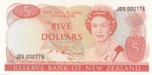 New Zealand, 5 Dollars, 1985-89, UNC, p171b