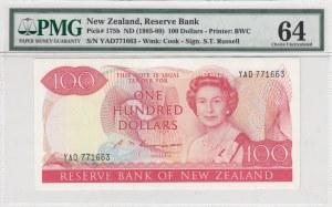 New Zealand, 100 Dollars, 1985-1989, UNC, p175b, (PMG 64)