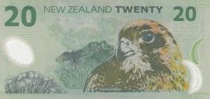 New Zeland, 20 Dollars, 2004, UNC, p187b