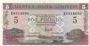 Northern Ireland, 5 Pounds, 1993, VF, p331b