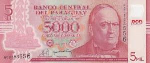 Paraguay, 5000 Guaranies, 2011, UNC, p234