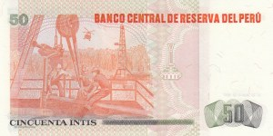 Peru, 50 Intis, 1987, UNC, p131