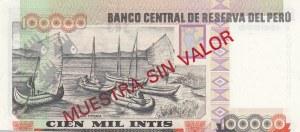 Peru, 100.000 İntis, 1988, UNC, p144, SPECİMEN