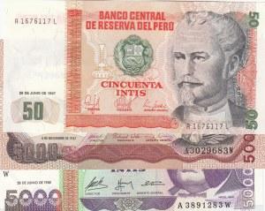 Peru, 3 Pieces UNC Banknotes
