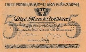 Poland,  5 Marek, 1919, XF (-), p20