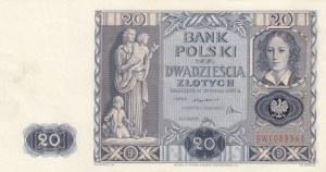Poland, 20 Zlotych, 1936, UNC, p77