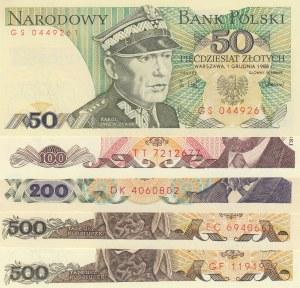 Poland, 5 Pieces UNC Banknotes