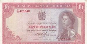 Rhodesia, 1 Pound, 1968, VF / XF, p28d