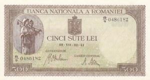 Romania, 500 Lei, 1941, UNC, p51