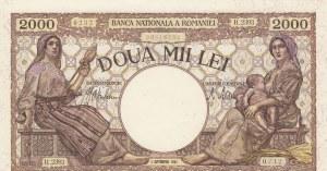 Romania, 2000 Lei, 1943, UNC, p54a