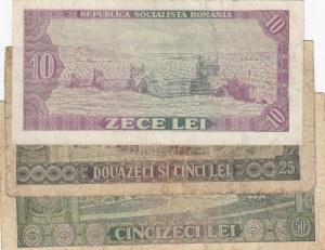 Romania, 10 Lei, 25 Lei and 50 Lei, 1966, FINE / VF, p94/p95/p96, (Total 3 banknotes)